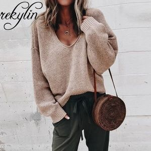 oversized loose fit knit sweater